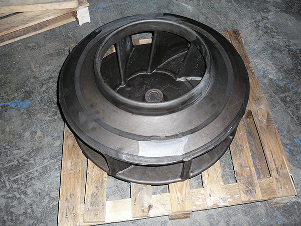 Ebonite-coated impeller