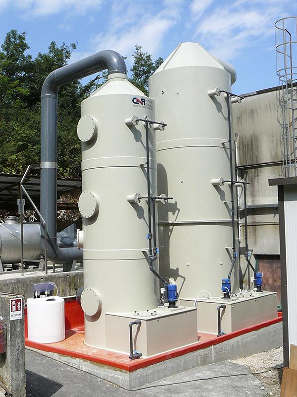 Depurazione fumi con presenza di ossidi di azoto